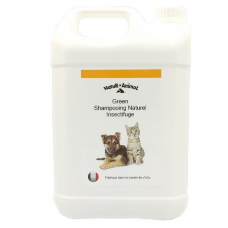 shampooing insectifuge chiens et chats bidon de 5 litres